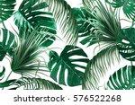 Tropical Palm Leaves  Jungle...