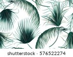 tropical palm leaves  jungle... | Shutterstock .eps vector #576522274