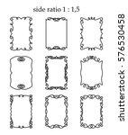 vector set of rectangular... | Shutterstock .eps vector #576530458