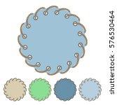 vector set of round stickers... | Shutterstock .eps vector #576530464