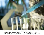 pipette with fluid and test... | Shutterstock . vector #576532513