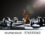 chess battle defeat pawn of... | Shutterstock . vector #576535363