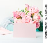 Blank Pink Paper Card For...