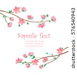 vector decoration branches with ... | Shutterstock .eps vector #576540943