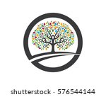 family tree symbol icon logo... | Shutterstock .eps vector #576544144