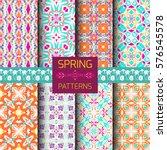 vector set of geometric... | Shutterstock .eps vector #576545578