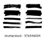 set of hand drawn black paint ... | Shutterstock .eps vector #576546034