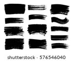 set of hand drawn black paint ... | Shutterstock .eps vector #576546040