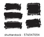set of universal grunge black... | Shutterstock .eps vector #576547054