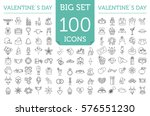 valentine s day icon set.... | Shutterstock .eps vector #576551230