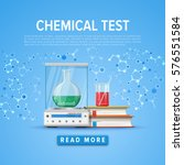 modern tool set of chemistry.... | Shutterstock .eps vector #576551584