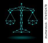 abstract zodiac libra | Shutterstock .eps vector #576552478