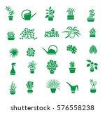 big set of indoor plants ... | Shutterstock .eps vector #576558238