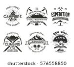 vintage mountaineering badges... | Shutterstock .eps vector #576558850