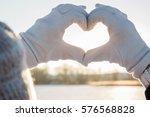 heart shape made from hands....   Shutterstock . vector #576568828