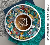 vector illustration with a cup... | Shutterstock .eps vector #576571510