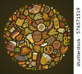 colorful vector hand drawn set... | Shutterstock .eps vector #576571519
