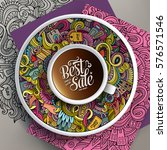 vector illustration with a cup... | Shutterstock .eps vector #576571546