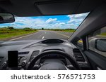 view from inside the car and... | Shutterstock . vector #576571753