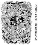 cartoon hand drawn doodles... | Shutterstock .eps vector #576572830