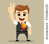 vector businessman gives thumb...   Shutterstock .eps vector #576586120