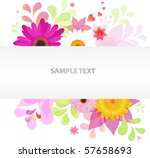 abstract floral vector...