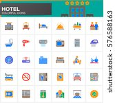 hotel services and facilities... | Shutterstock .eps vector #576588163