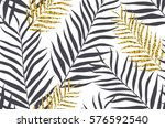 seamless pattern with banana... | Shutterstock .eps vector #576592540