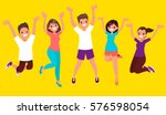 the joy of life. happy people... | Shutterstock .eps vector #576598054
