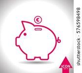 pig icon. vector  illustration  ...   Shutterstock .eps vector #576598498
