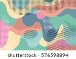 creative geometric colorful... | Shutterstock .eps vector #576598894