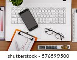 business objects in the office... | Shutterstock . vector #576599500