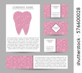vector set business card... | Shutterstock .eps vector #576600028
