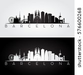 barcelona skyline and landmarks