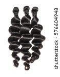 Small photo of virgin loose wave black human hair extension bundles