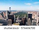 new york city skyline with... | Shutterstock . vector #576606700