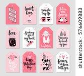 valentine s day callygraphic... | Shutterstock .eps vector #576609883