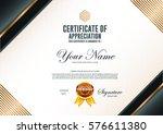 certificate vector luxury... | Shutterstock .eps vector #576611380