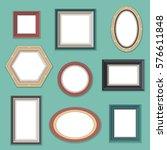 vector set of flat style empty... | Shutterstock .eps vector #576611848