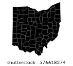 map of ohio | Shutterstock .eps vector #576618274