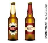 realistic beer bottles   vector ... | Shutterstock .eps vector #576618850