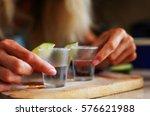 tequila shots   Shutterstock . vector #576621988