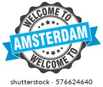 amsterdam. welcome to amsterdam ... | Shutterstock .eps vector #576624640