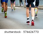 group of marathon runners on...   Shutterstock . vector #576626773