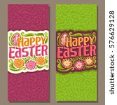 vector vertical banners for... | Shutterstock .eps vector #576629128
