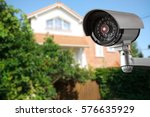 security camera and private... | Shutterstock . vector #576635929
