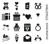 saint valentine icoins set....   Shutterstock . vector #576637864