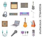 recording studio icons set....   Shutterstock . vector #576640036
