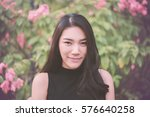 outdoor portrait of a beautiful ... | Shutterstock . vector #576640258
