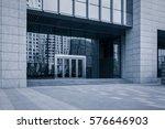door of a new contemporary... | Shutterstock . vector #576646903